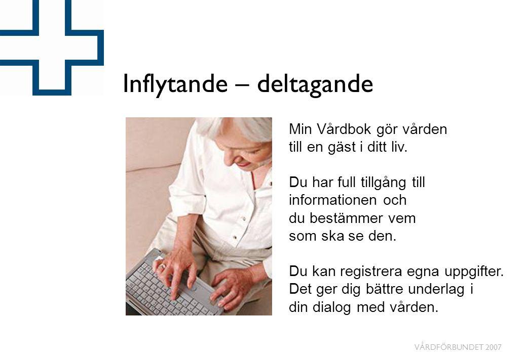 VÅRDFÖRBUNDET 2007 Exempel på egenregistrering • Uppskattning av smärtnivåer.