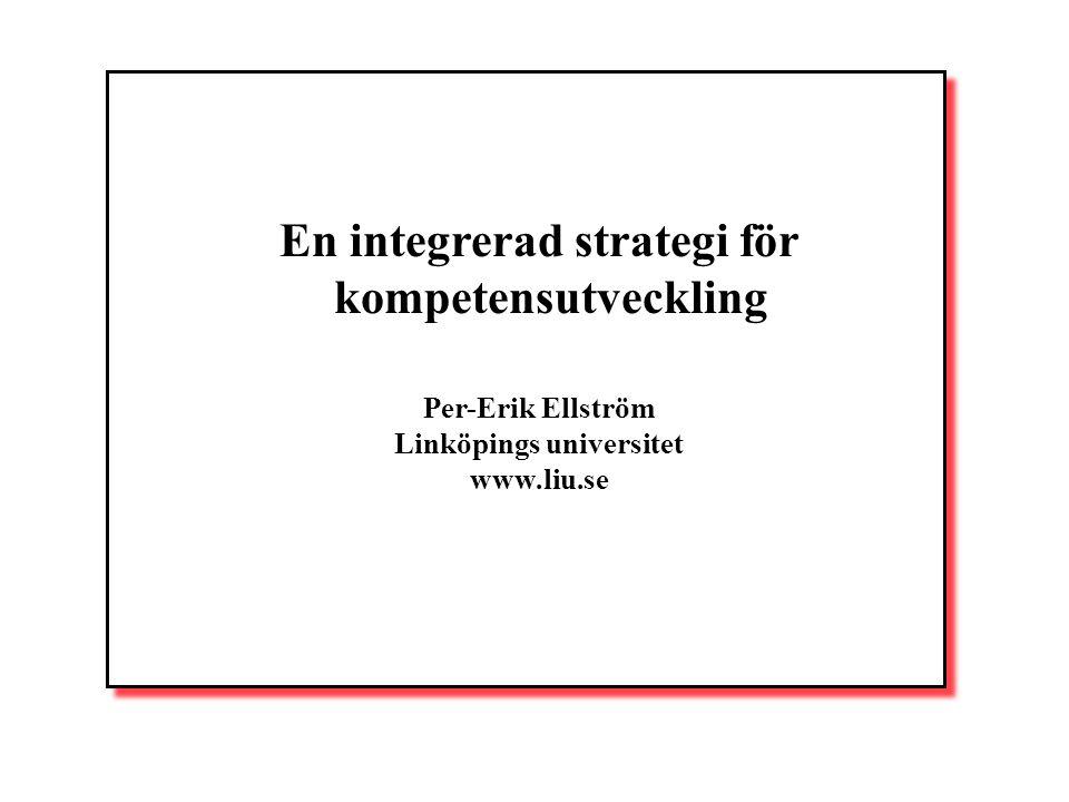 En integrerad strategi för kompetensutveckling Per-Erik Ellström Linköpings universitet www.liu.se