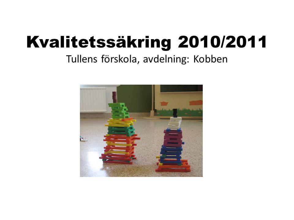 Kvalitetssäkring 2010/2011 Tullens förskola, avdelning: Kobben