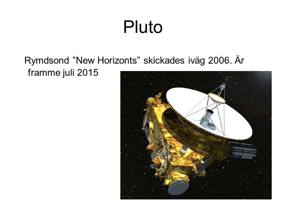 "Pluto Rymdsond ""New Horizonts"" skickades iväg 2006. Är framme juli 2015"