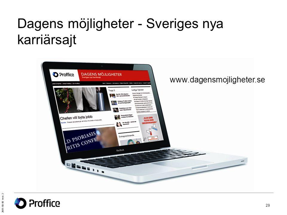 2011-10-10 vers 2 29 Dagens möjligheter - Sveriges nya karriärsajt www.dagensmojligheter.se