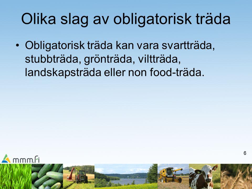 17 Icke odlad åker som sköts •Med icke odlad åker som sköts avses åkrar som inte används för produktion.