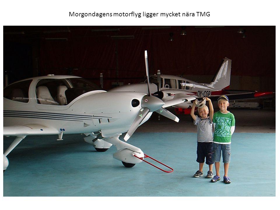 Morgondagens motorflyg ligger mycket nära TMG