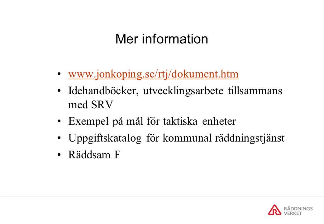 Livräddning under sex år Exempel från Jönköping
