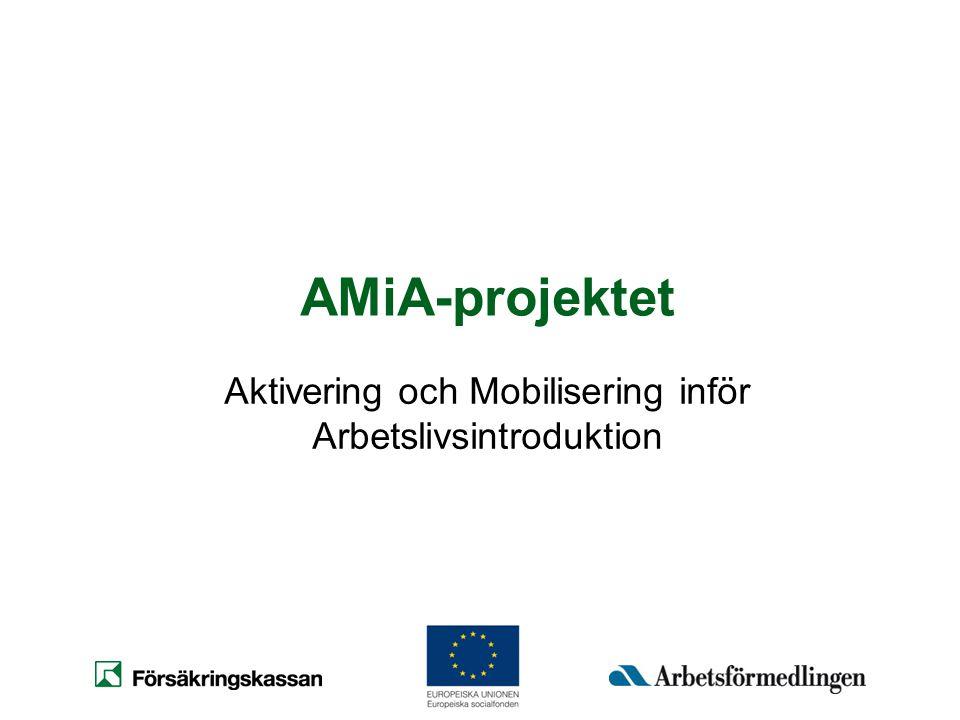 Syfte Genomföra och förstärka samarbetet mellan Försäkringskassan, Arbetsförmedlingen och vården före, under tiden och efter arbetslivsintroduktionen.