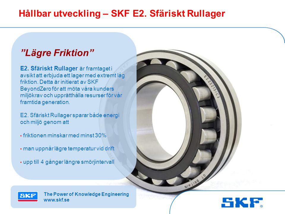 © SKF Group Slide 4October 30, 2007 © SKF Group Slide 4 Hållbar utveckling – SKF E2.