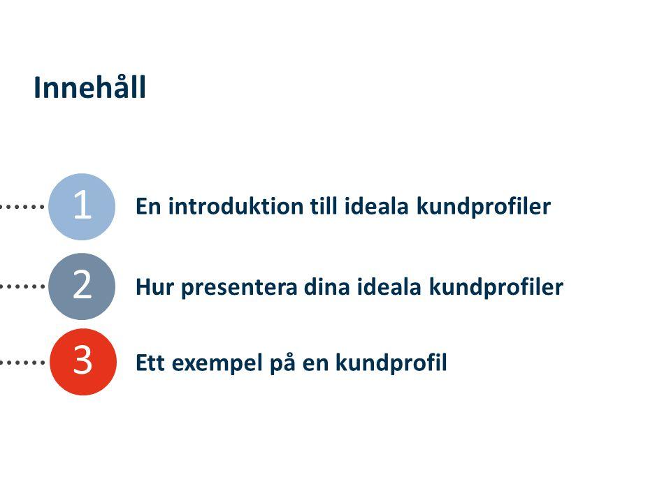 En introduktion till ideala kundprofiler Hur presentera dina ideala kundprofiler Ett exempel på en kundprofil 2 3 Innehåll 1