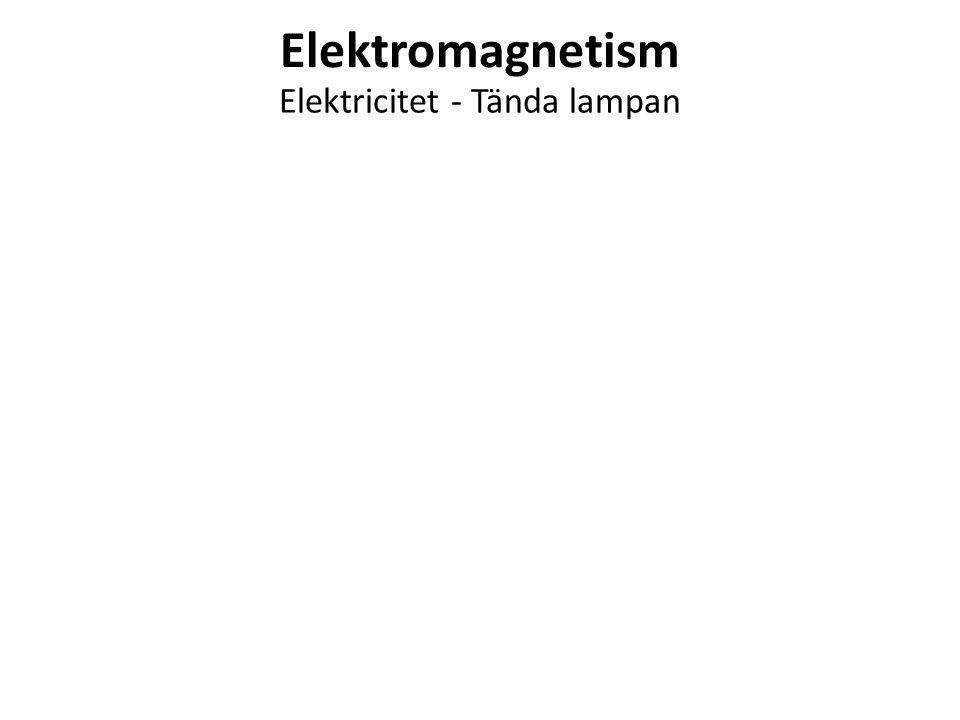 Elektromagnetism Elektricitet - Tända lampan