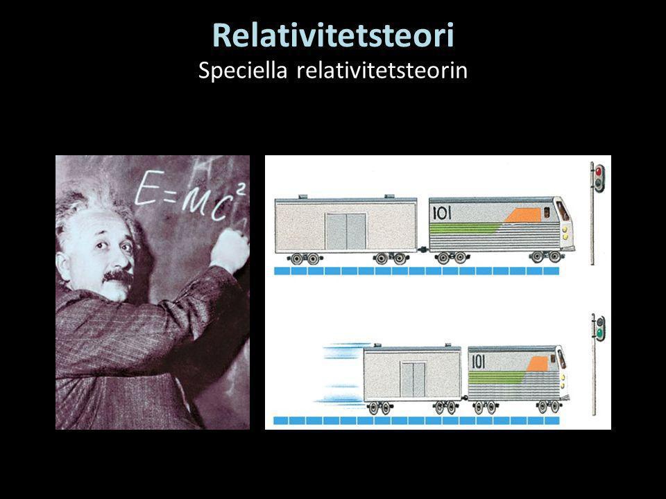 Relativitetsteori Speciella relativitetsteorin