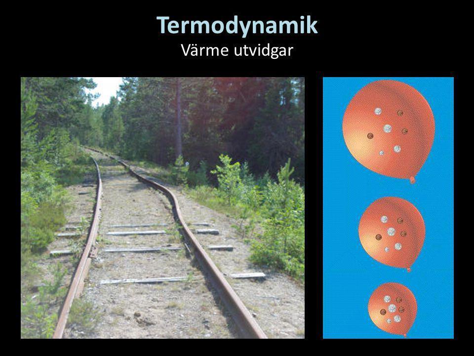 Termodynamik Värme utvidgar