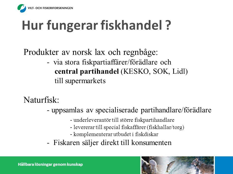Hållbara lösningar genom kunskap Hur fungerar fiskhandel .