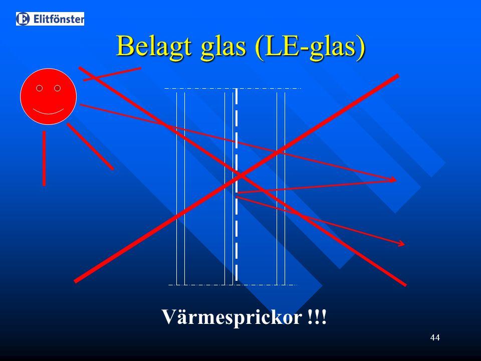 44 Belagt glas (LE-glas) Värmesprickor !!!