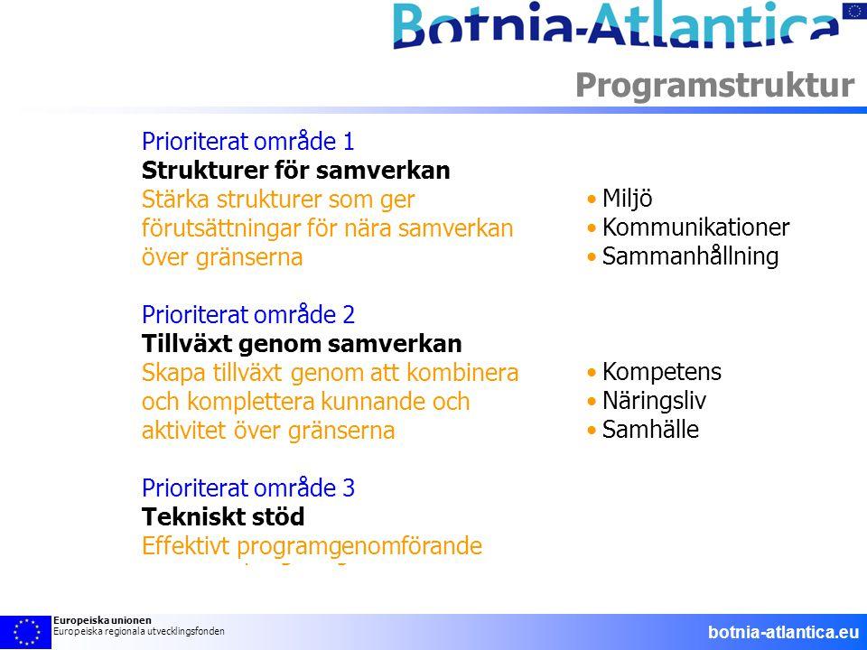 Programstruktur •Miljö •Kommunikationer •Sammanhållning •Kompetens •Näringsliv •Samhälle Strukturer för samverkan •Miljö •Kommunikationer •Sammanhålln