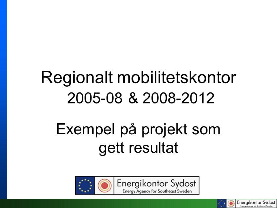 Regionalt Mobilitetskontor …driver projekt samt arbetar med information och rådgivning kring hållbara transporter för både kommuner och företag enligt mottot … Att påverka resan eller transporten innan den börjat Komplement till traditionell trafikplanering