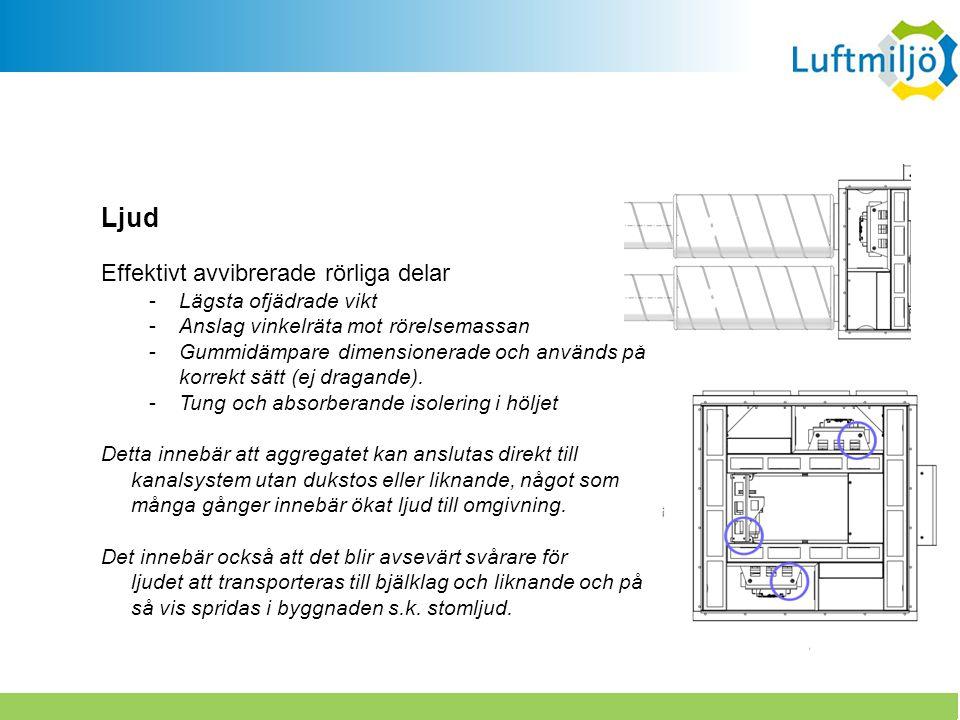 Effektivt avvibrerade rörliga delar -Lägsta ofjädrade vikt -Anslag vinkelräta mot rörelsemassan -Gummidämpare dimensionerade och används på korrekt sä