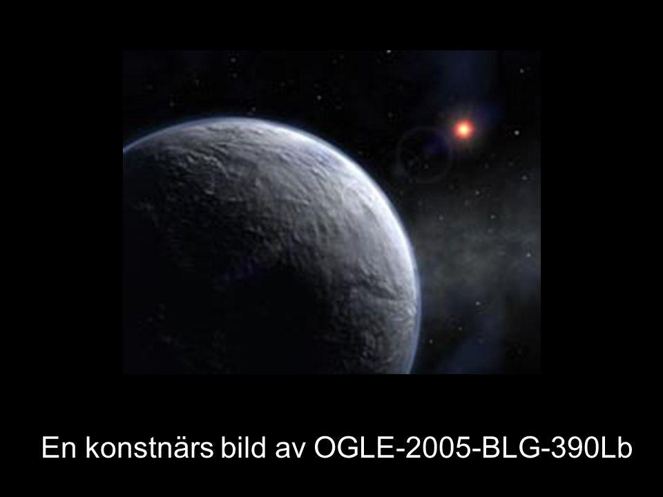 En konstnärs bild av OGLE-2005-BLG-390Lb