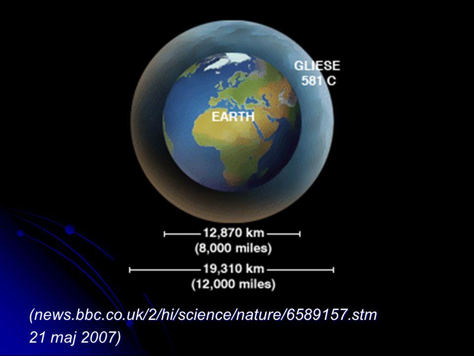 (news.bbc.co.uk/2/hi/science/nature/6589157.stm 21 maj 2007)
