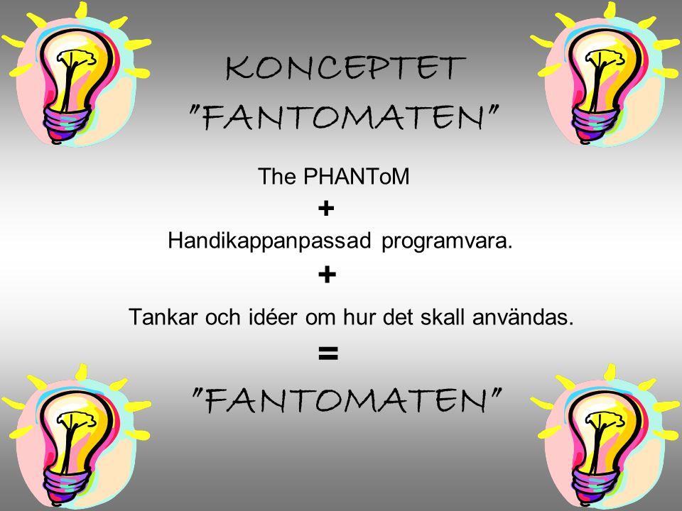 KONCEPTET FANTOMATEN The PHANToM + Handikappanpassad programvara.