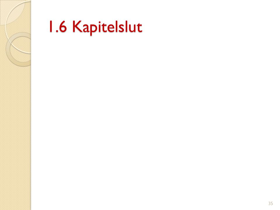 1.6 Kapitelslut 35