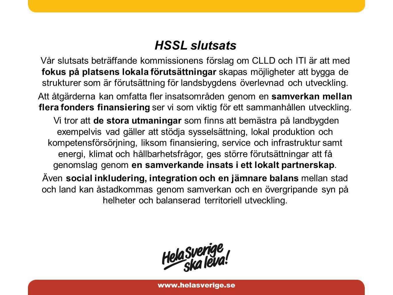 www.helasverige.se HSSL skrivelse om CLLD i översikt