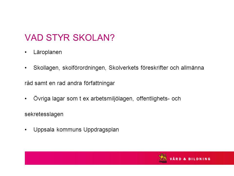 VAD STYR SKOLAN.