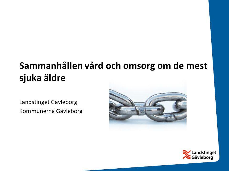 Sammanhållen vård och omsorg om de mest sjuka äldre Landstinget Gävleborg Kommunerna Gävleborg