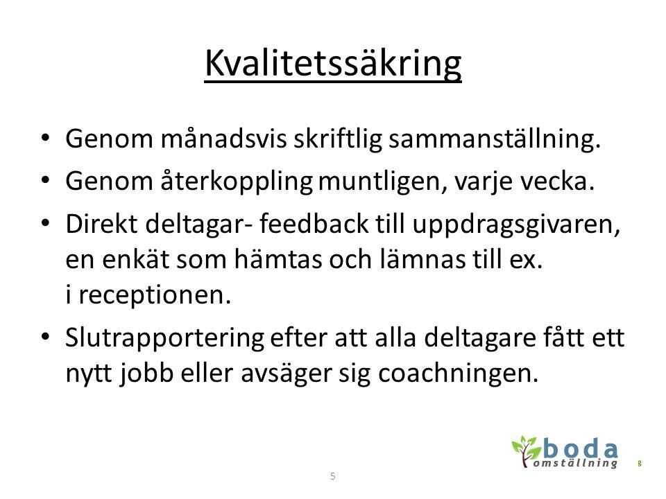 Vem • Coacherna är: • Bengt Andersson • FD Arbetsförmedlingschef i Uddevalla med ett stort nätverk inom privat och offentlig verksamhet.