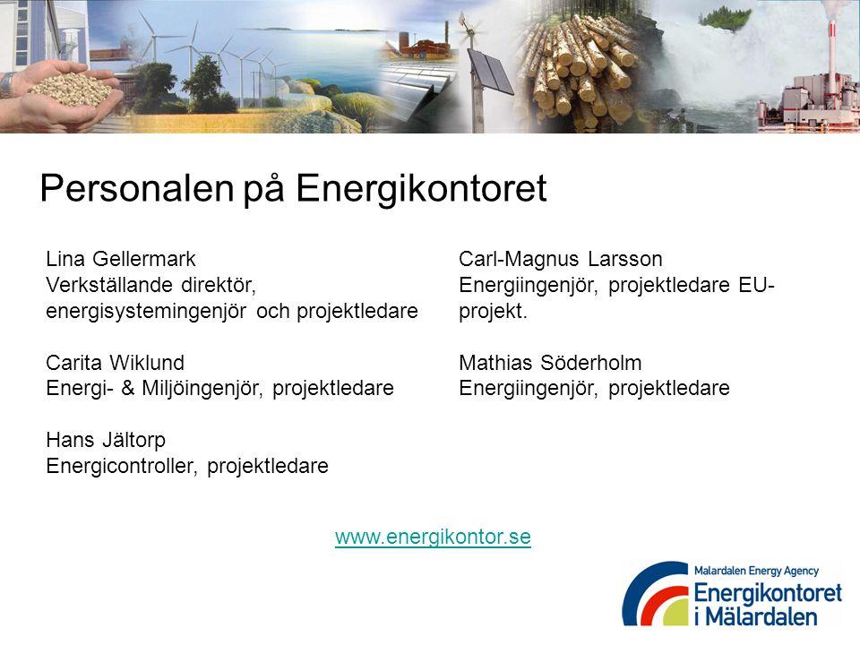 Lina Gellermark Verkställande direktör, energisystemingenjör och projektledare Carita Wiklund Energi- & Miljöingenjör, projektledare Hans Jältorp Ener