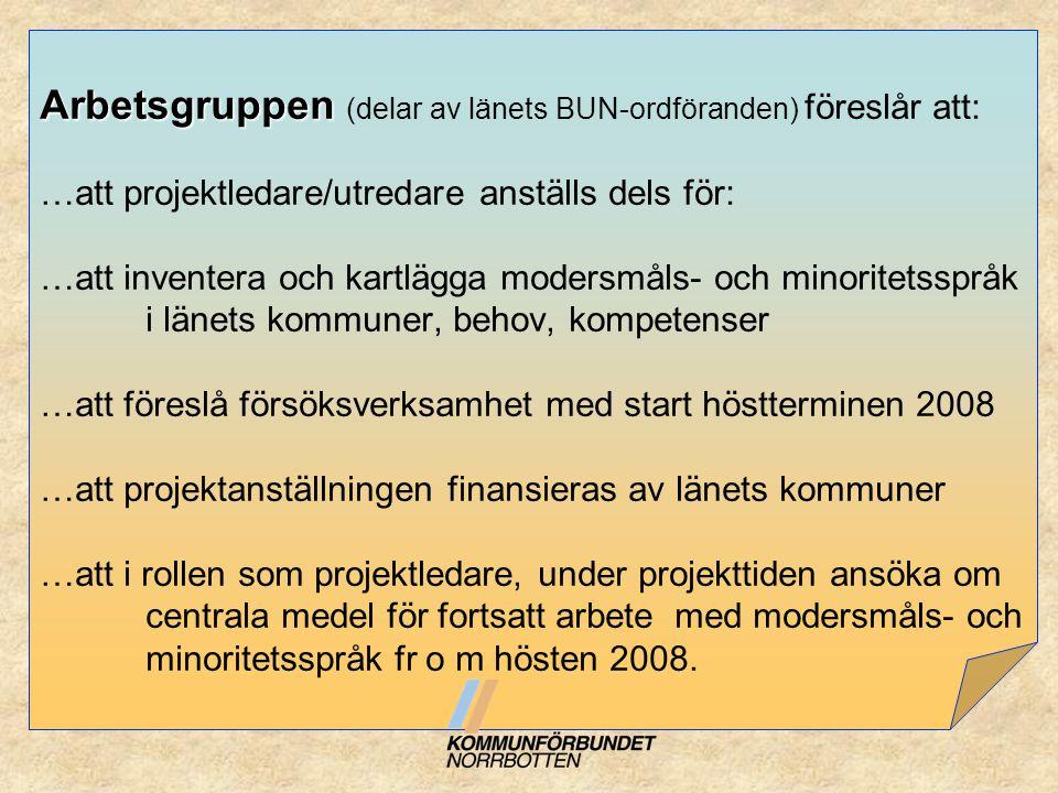 Mål och syftesfrågor från avsiktsförklaringen: …att få igång ett praktiskt samarbete i Norrbotten från hösten 2007 Resultat: Alla kommuner samarbetar på det organisatoriska planet med Kommunförbundet via telefon, fysiska besök och nätverksträffar 2 ggr/termin.