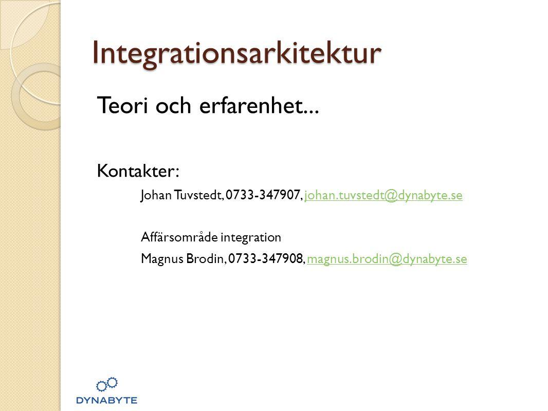 Integrationsarkitektur Teori och erfarenhet...