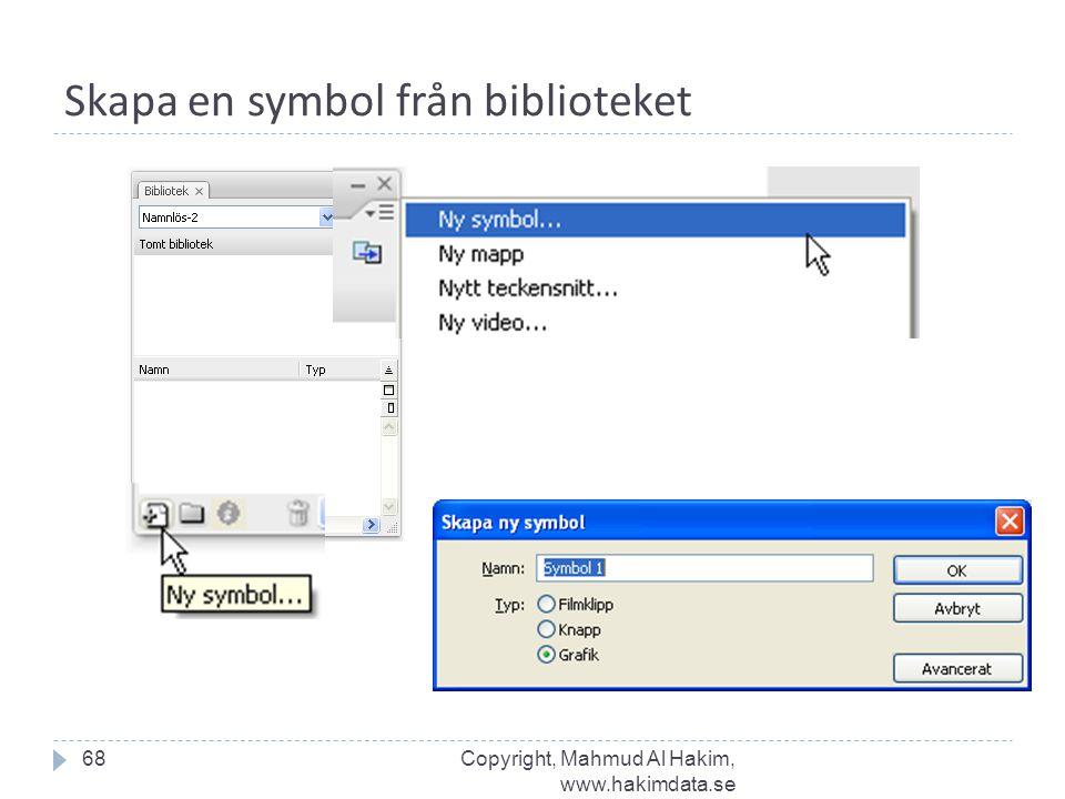 Skapa en symbol från biblioteket 68Copyright, Mahmud Al Hakim, www.hakimdata.se