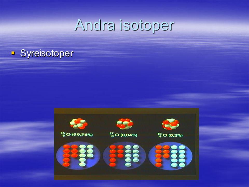 Andra isotoper  Syreisotoper