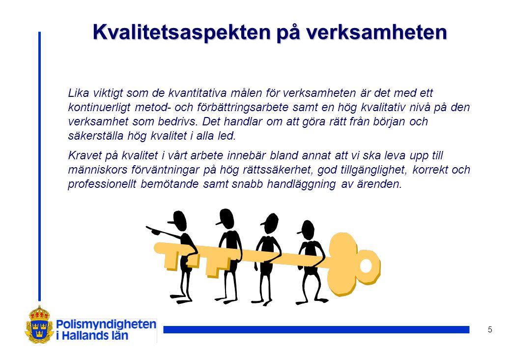 6 Nationella mål för Hallandspolisen © Antal anmälda misshandelsbrott utomhus (exkl.