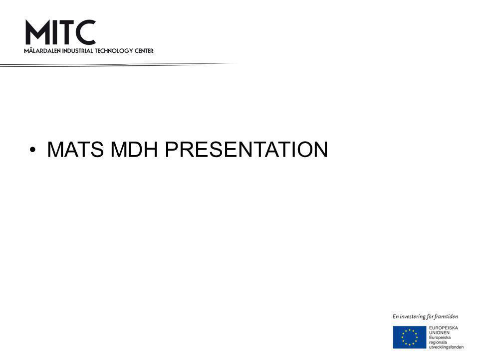 •MATS MDH PRESENTATION