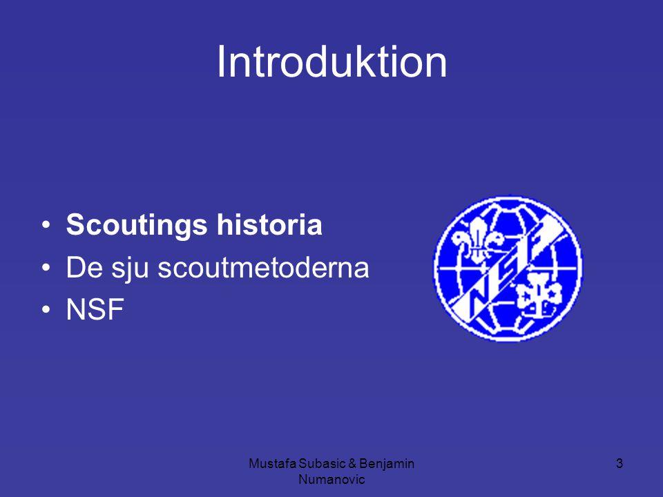 Mustafa Subasic & Benjamin Numanovic 14 De sju scoutmetoderna •Lag och Löfte •Lära genom att göra •Patrullsystem •Friluftsliv •Symboler och ceremonier •Stödjande och lyssnande ledarskap •Lokalt och globalt samhällsengagemang