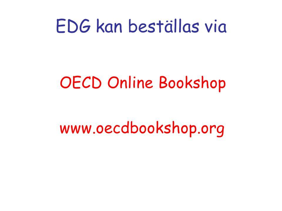 EDG kan beställas via OECD Online Bookshop www.oecdbookshop.org