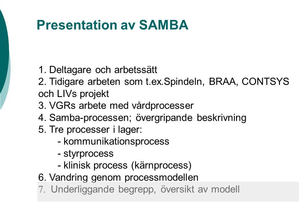 Detaljvandring genom processmodellen – kan vi få in alla typer av processer i modellen.