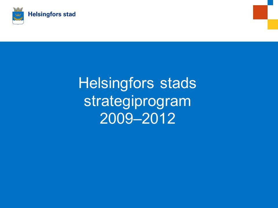 00.0.2008Esitelmän pitäjän nimi Helsingfors stads strategiprogram 2009–2012