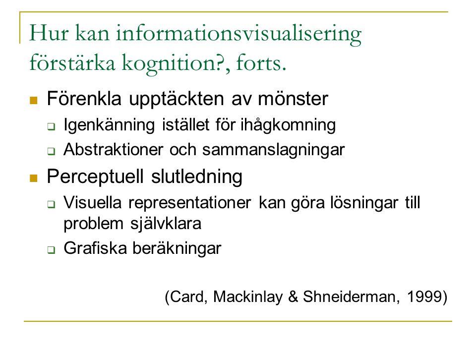 Hur kan informationsvisualisering förstärka kognition?, forts.