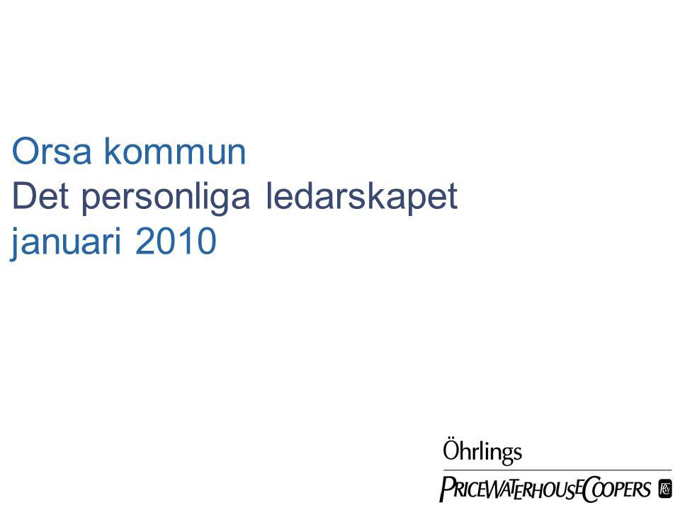 Öhrlings PricewaterhouseCoopers januari 2010 sida 12 Det personliga ledarskapet Att leda sig själv...