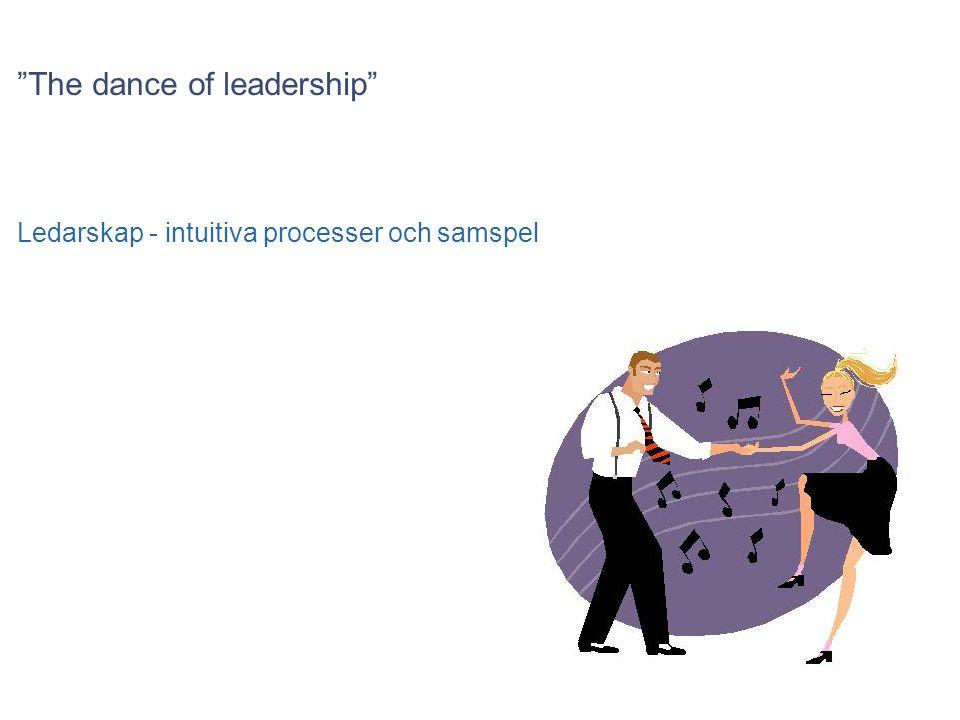 """""""The dance of leadership"""" Ledarskap - intuitiva processer och samspel"""