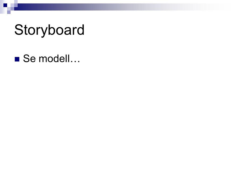 Storyboard  Se modell…