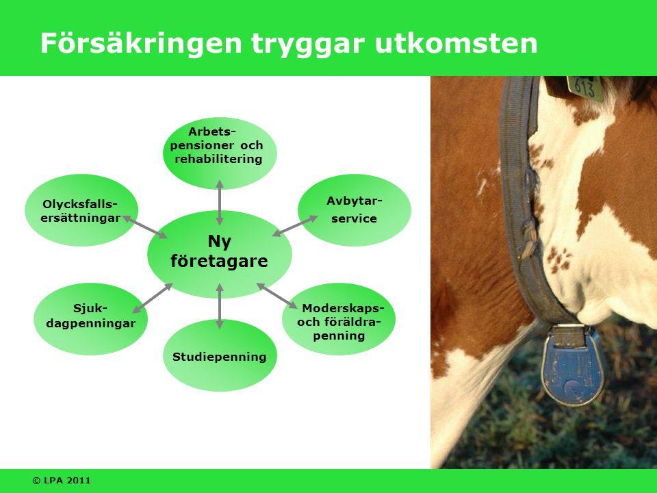 © LPA 2011 Att bli ny företagare Det vanligaste sättet att bli lantbruks- företagare är att föräldrarna överlåter gården till ett barn (generationsväxling).