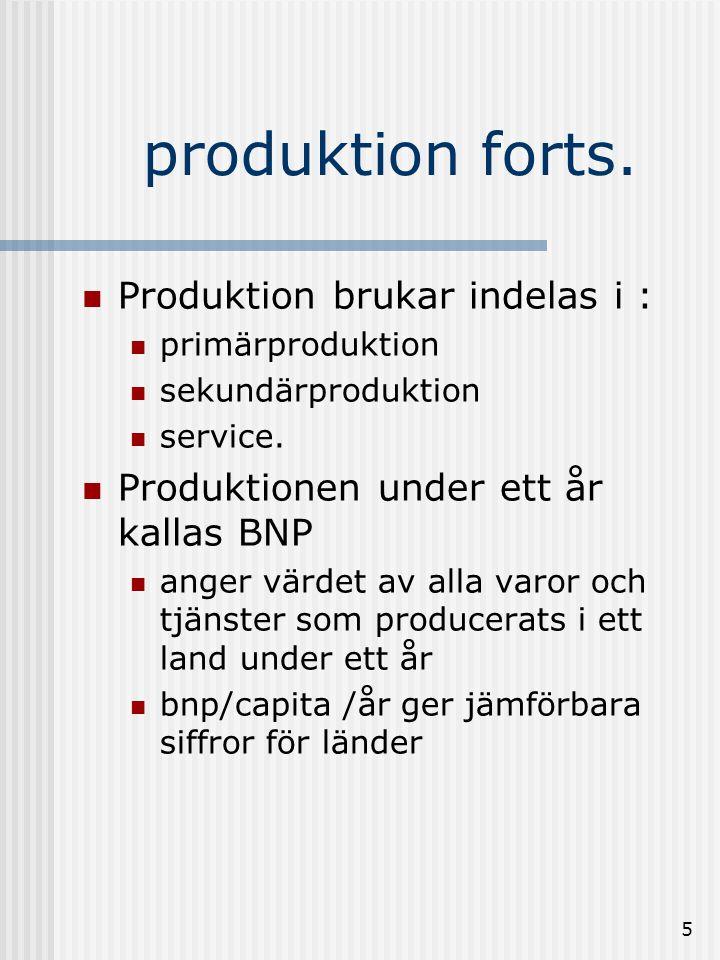 4 Produktion  för att kunna producera måste grundläggande förutsättningar fyllas.