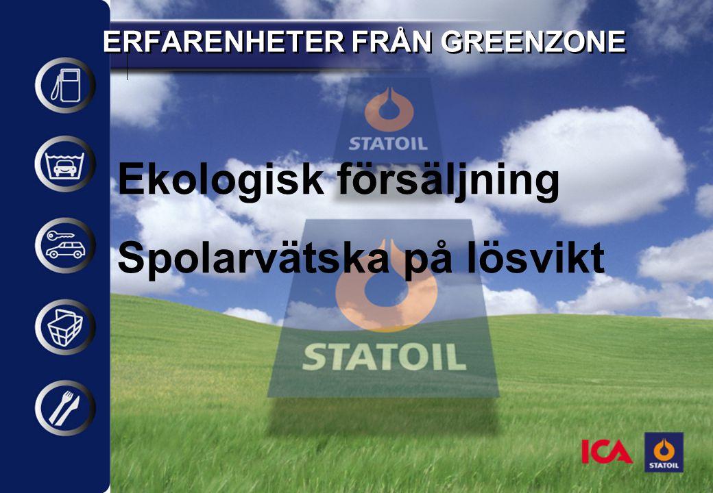 ERFARENHETER FRÅN GREENZONE Ekologisk försäljning Spolarvätska på lösvikt
