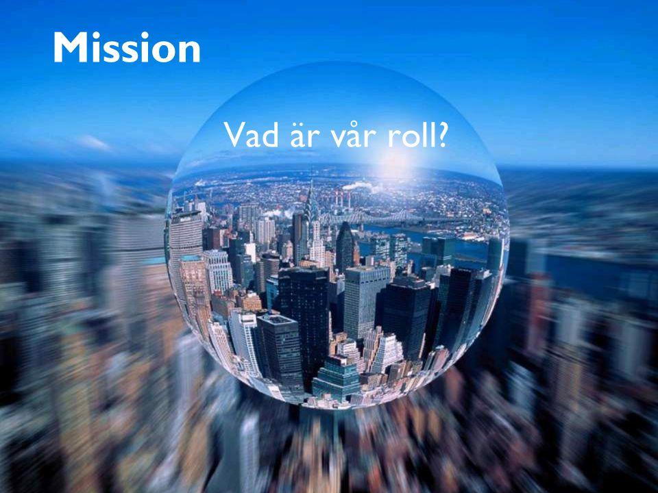 15 Mission Vad är vår roll?