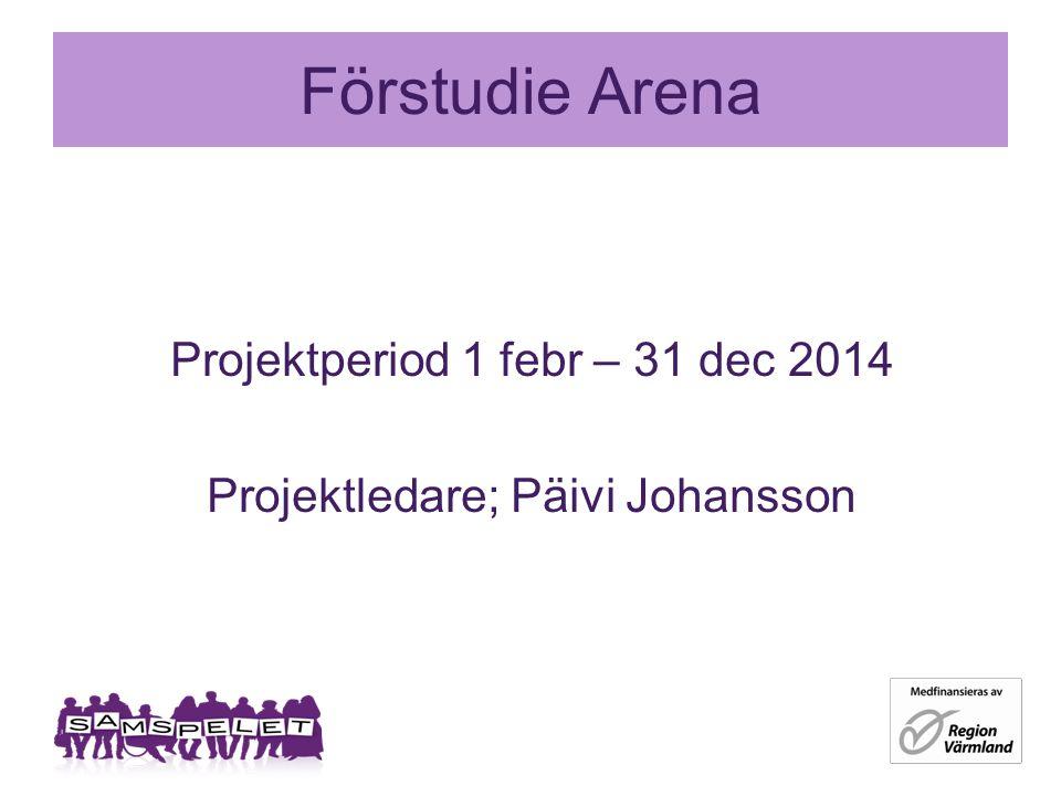 Förstudie Arena Projektperiod 1 febr – 31 dec 2014 Projektledare; Päivi Johansson