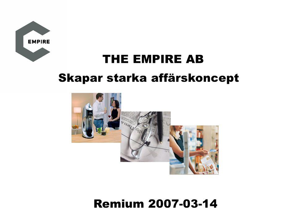 THE EMPIRE AB Skapar starka affärskoncept Remium 2007-03-14