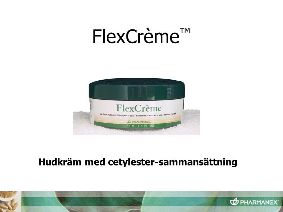 Hudkräm med cetylester-sammansättning FlexCrème ™