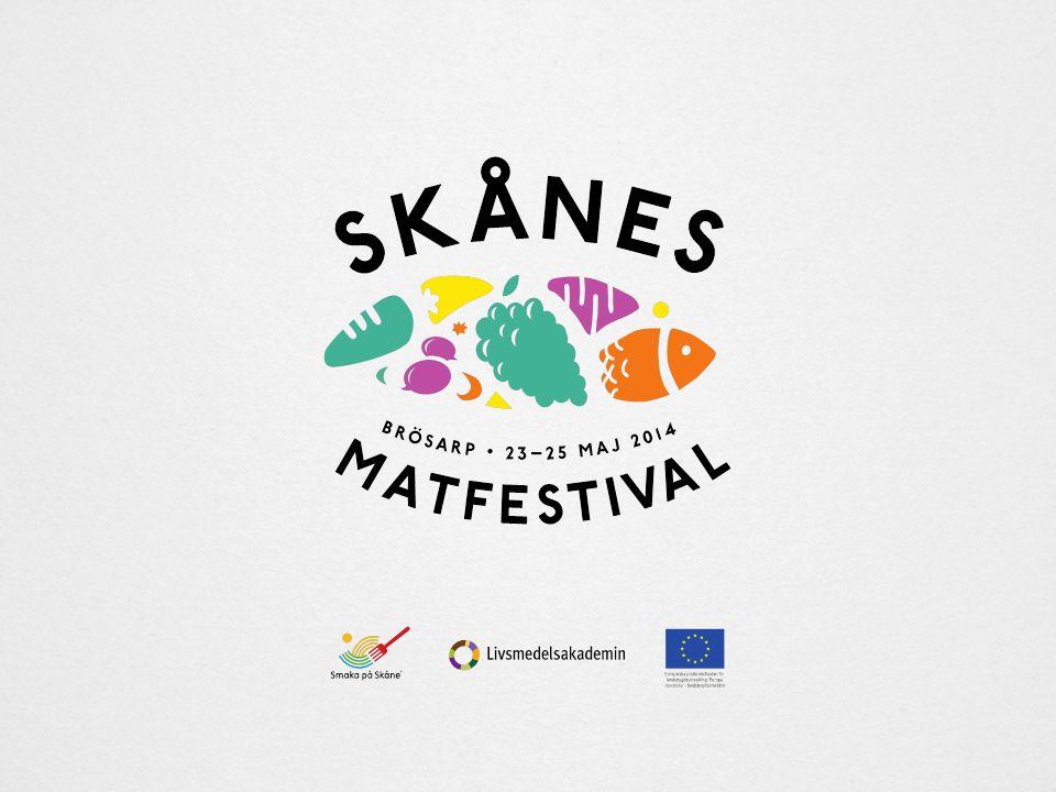 23–25 maj Skånes Matfestival i Brösarp Arrangör är Livsmedelsakademin/Smaka på Skåne Initiativtagare är Anders Cederberg och Charlotta Ranert